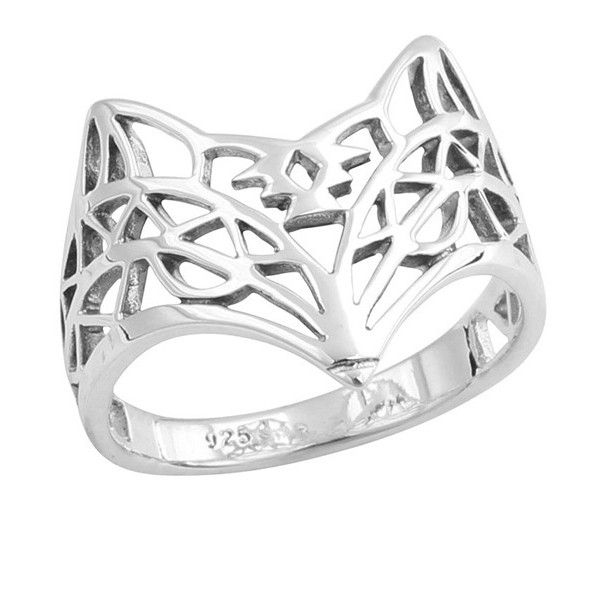 Midsummer Star Aztec Fox Ring ($35) ❤ liked on Polyvore featuring jewelry, rings, geometric rings, polish jewelry, fox ring, star jewelry and star ring
