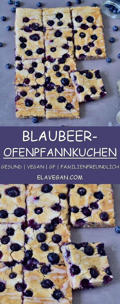 Ofenpfannkuchen mit Blaubeeren -vegan, lecker, gesund, glutenfrei