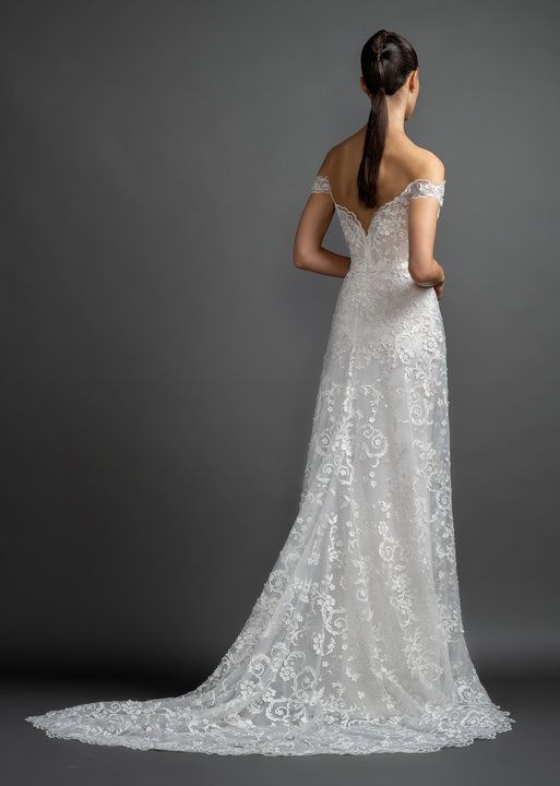 c4dd0010786c Style 3906 Bea Lazaro bridal gown - Ivory laser cut lace over sparkle net A-