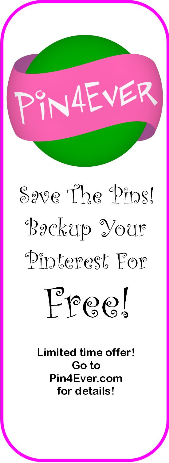 WOW!  Have you seen this?  FREE TRIAL backup of your whole Pinterest account! It only took a few minutes to save all my pins and likes!