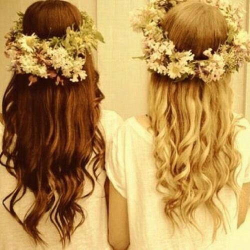 Boho Flower Girls #lush #hair #envy