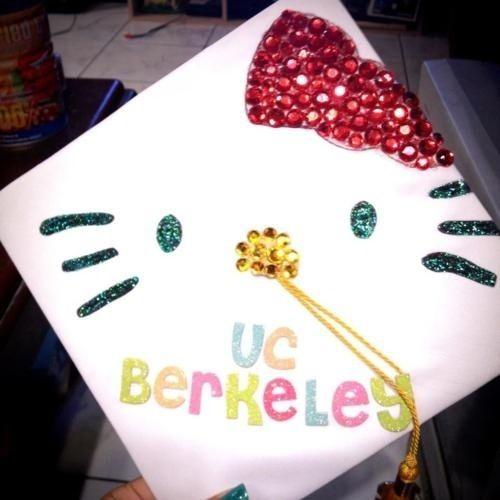 #UCberkeley Hello Kitty Graduation Cap