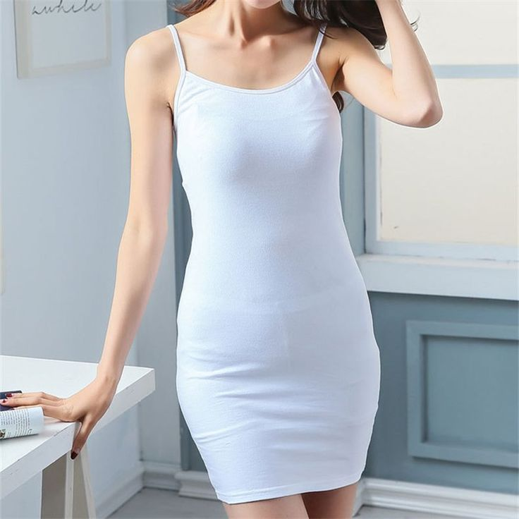 """Long Spaghetti-Strap Camisole Slip //Price: $20.35 & FREE Shipping //    Long Spaghetti-Strap Camisole Slip This long camisole slip is great when you want to keep your core and lower back warm. It can make all the difference under a loose flowy dress when the night is cool. Pay attention to the measurements. These are Asian sizes, and not very big.    Size Bust Strap Length   S 64-74 cm 25-29"""" 39 cm 15"""" 72 cm 28""""   M 68-78 cm 26.5""""-30.5"""" 40 cm 15.5"""" 75 cm 29.5""""   L 70-80 cm 27.5-31.5"""" 42…"""