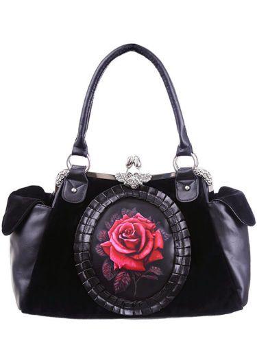 Sac-romantique-gothique-avec-rose-rouge-et-ornement-Restyle