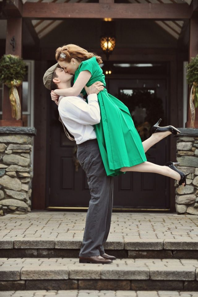 1940s Vintage Themed Engagement- lift, i love this it reminds me of the notebook which is my favorite movie