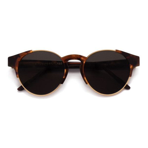 Arca Classic Havana Sunglasses ($250) ❤ liked on Polyvore featuring accessories, eyewear, sunglasses, glasses, tortoise shell sunglasses, tortoise shell glasses, retrosuperfuture sunglasses, retrosuperfuture glasses and tortoiseshell glasses