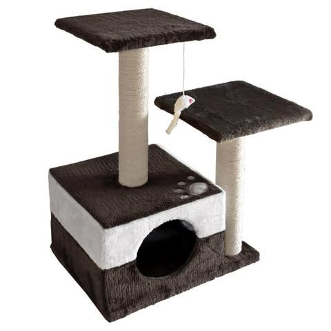 Cat Scratching Poles Post Furniture Tree 70cm White Dark Grey