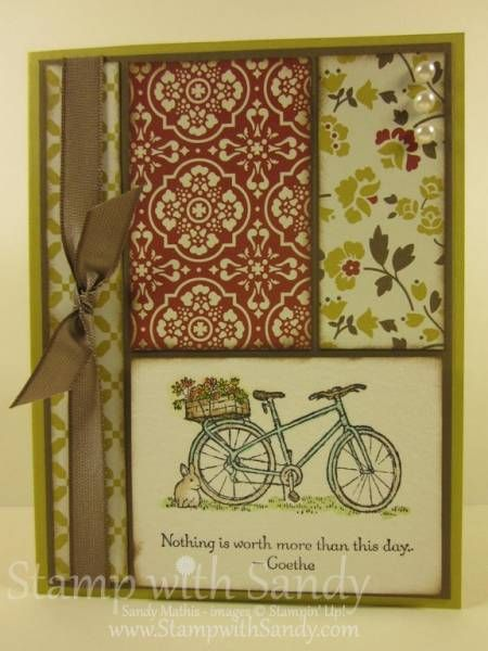 Nice layout - Summer Afternoon and a Sneak Peek by stampwithsandy