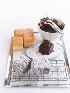 lamingtons!!!! Such a delicious Australian dessert. Thanks Jess for showing the Canadians(:
