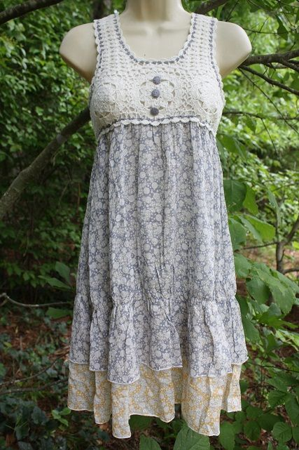 Shabby Chic Summer Crocheted Dress from butterflymama.com $49 USD
