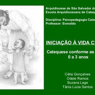 Arquidiocese de São Salvador da Bahia Escola Arquidiocesana de Catequistas Disciplina: Psicopedagogia Catequética Professor: Everaldo INICIAÇÃO À VIDA CRIST. http://slidehot.com/resources/psicopedagogia-da-catequese.36745/