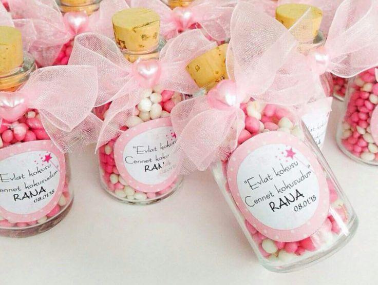 Cam şişe bebek  şekerleri