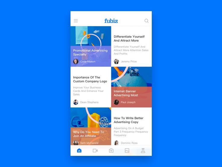 40 Inspiring examples of mobile feeds
