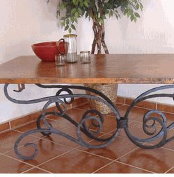 Decorative Wrought Iron Table Legs | Alexander Dining Table With 84x42 Top
