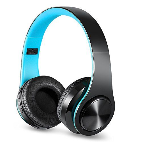 Bluetooth Headphones Over Ear, Myguru Bluetooth 4.2 Wireless Headphone Headset with Microphone for Cellphones Laptop TV (Blue.). IMPRESSIVE SOUND QUALITY:The 40mm drivers offering a frequency response of 20Hz to 20KHz and exceptional sound reproduction and wide dynamic range to provide outstanding sound quality.2.Noise canceling technology effectively isolate 85% background noise,lets you keep away from noisy world to do yourself. WIRELESS & WIRED MODE: The built-in 400mAh battery…