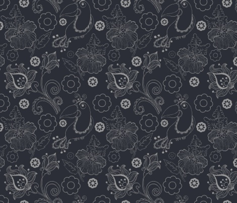 the parrot in the ex fabric by ДанилТихонов on Spoonflower - custom fabric