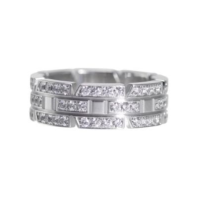 18 Karat White Gold and Diamond Ring by Cartier by   Cartier