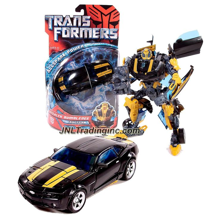 "Hasbro Transformers 1st Movie All Spark Power Series Deluxe Class 6"" Tall Figure - STEALTH BUMBLEBEE with Cannon Blade (Vehicle Mode: Camaro Concept)"