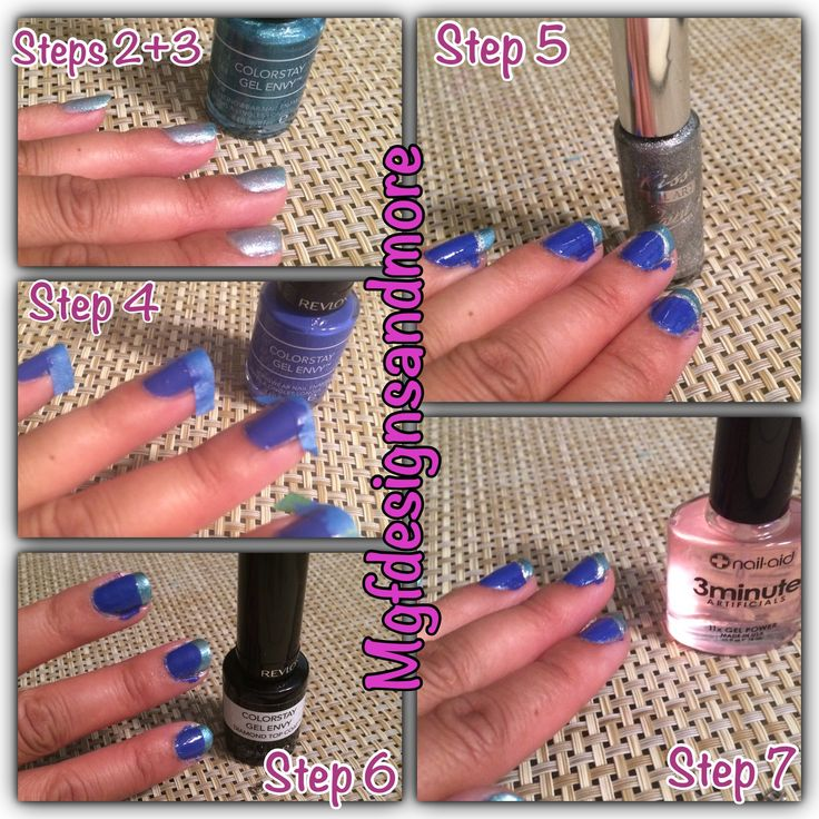 Steps For Revlon GelEnvy 2 Color French Manicure | MGF Designs and More