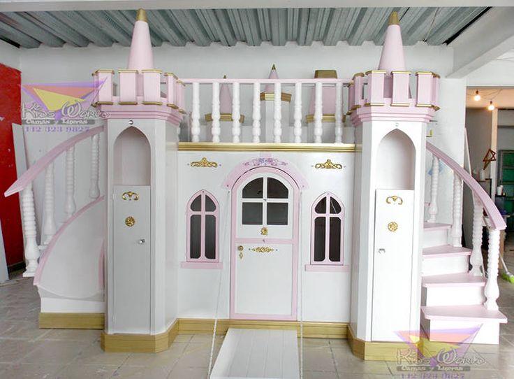 Las 25 mejores ideas sobre cama de castillo en pinterest y m s camas de princesa decoraciones - Caballeros y princesas literas ...