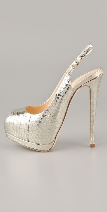 bdb08e4b2271 Silver Designer Heels  GiuseppezanottiHeels