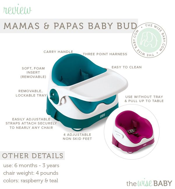 The @mamasandpapas Baby Bud Booster review - a chair we have been using for 8+ months for both our 2 year old and 8 month old! + a #giveaway!