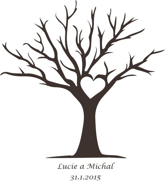 Svatební strom k vytištění