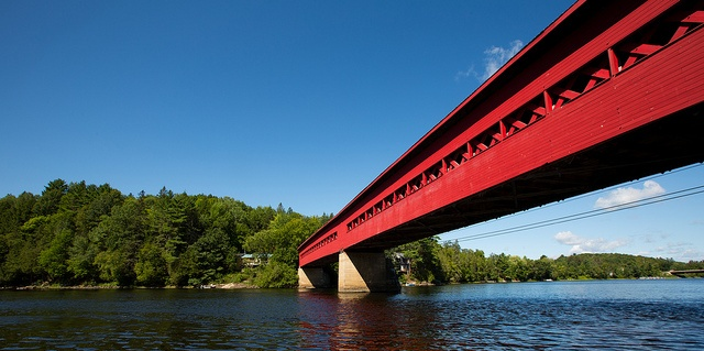 Wakefield Covered Bridge, Wakefield Quebec by Jeff Rogerson