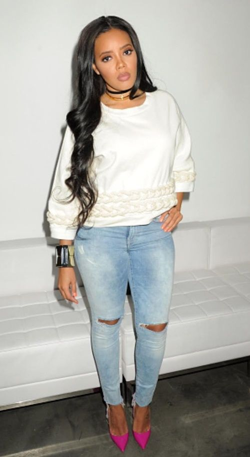 Angela Simmons Spotted in Innocente Messy Moissy Jumper...: Angela Simmons Spotted in Innocente Messy… #AngelaSimmonsengaged #AngelaSimmons