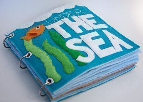 Under the Sea | Quiet Book Pattern, Busy Book Pattern, Travel Toys, Toddlers