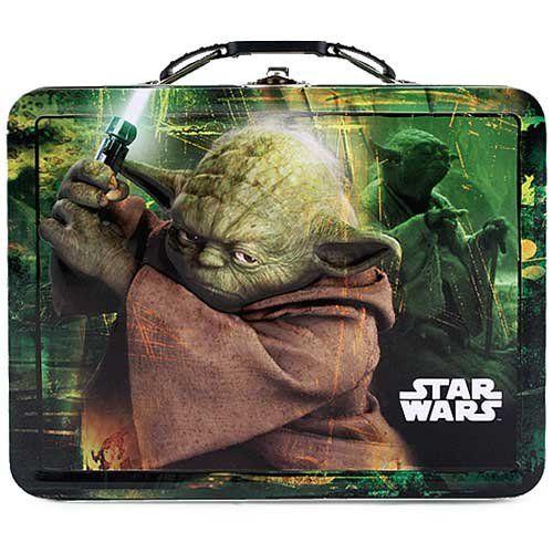 Star Wars Yoda Embossed Metal Lunch Box @ niftywarehouse.com #NiftyWarehouse #Geek #Products #StarWars #Movies #Film