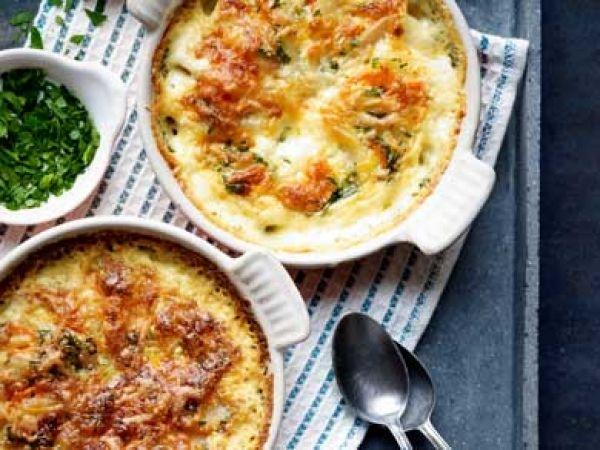 Gegratineerde aardappel en wortel = lekker met biefstuk of gebakken vis - Libelle Lekker!