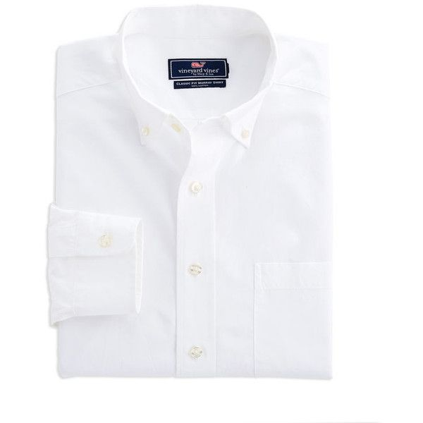 Men's Dress Shirts: Solid Classic Fit Murray Shirts – Vineyard Vines ($99) ❤ liked on Polyvore featuring men's fashion, men's clothing, men's shirts, men's dress shirts, mens leopard print button down shirt, mens cotton dress shirts, mens button down dress shirts, mens classic fit shirts and mens button down collar shirts