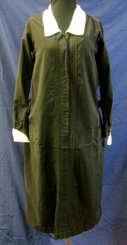 Rare 1920s Maid Uniform w Cuffs & Collar Black Size M ...