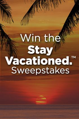 I just entered the Stay Vacationed.™ Sweepstakes to win a week's vacation with airfare included. Giving away one a week for 20 weeks! Enter Here.