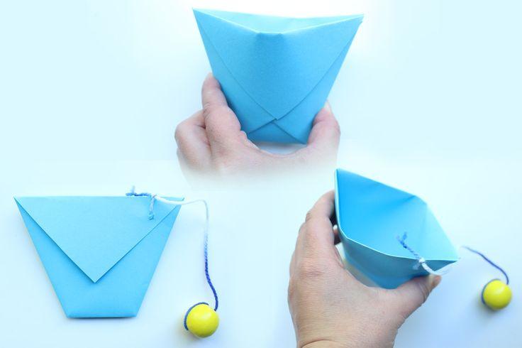 Becher-Fang-Spiel aus Papier basteln - Familie.de