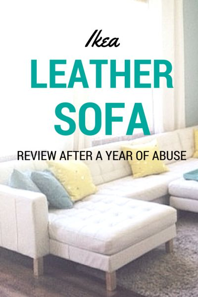 The Big White Ikea Leather Sofa Review