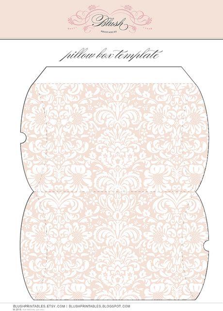 Printable Pillow Boxes ~ different motifs