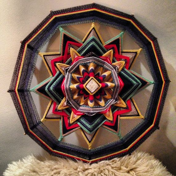 The Catalyst A Large Scale Mandala Gods Eye/ by GreenLionCreative, €187.00