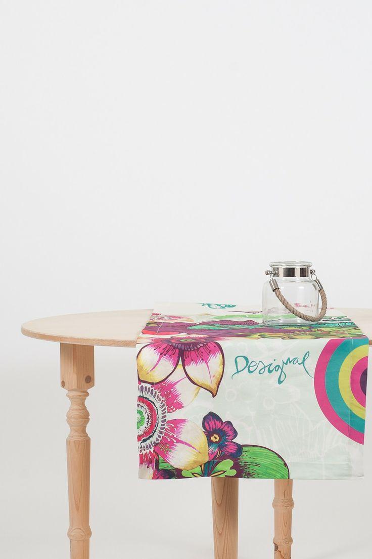 Runner Tropikal in cotone stampato #Desigual per la #casa