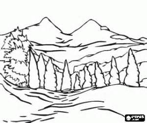 Best Natural Landscapes Coloring Pages