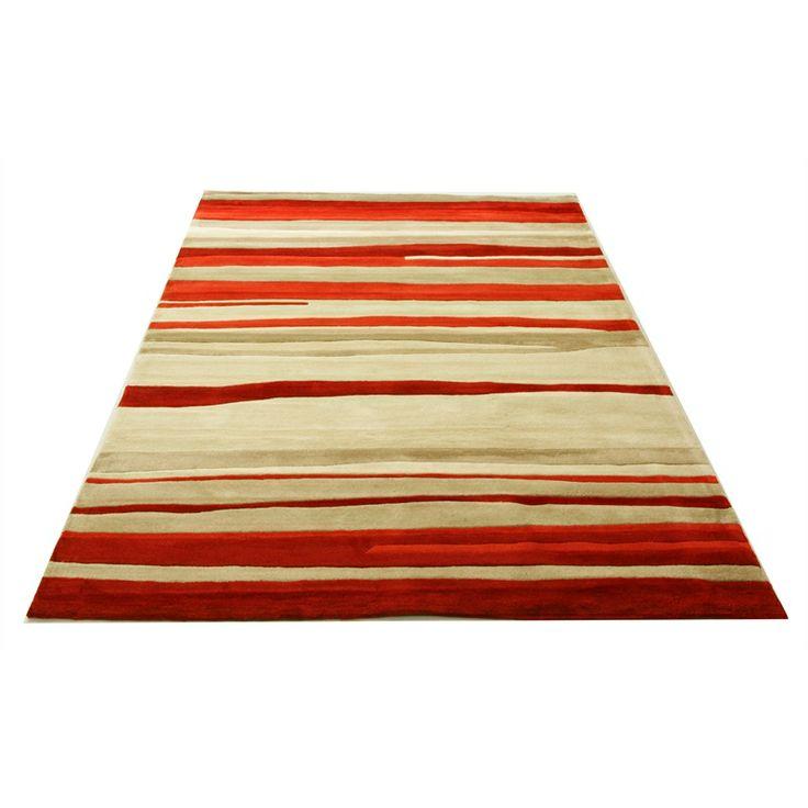 Hufflett Vista160 x 230cm Red Sands Hand Tufted Polyester Rug I/N 6670505   Bunnings Warehouse