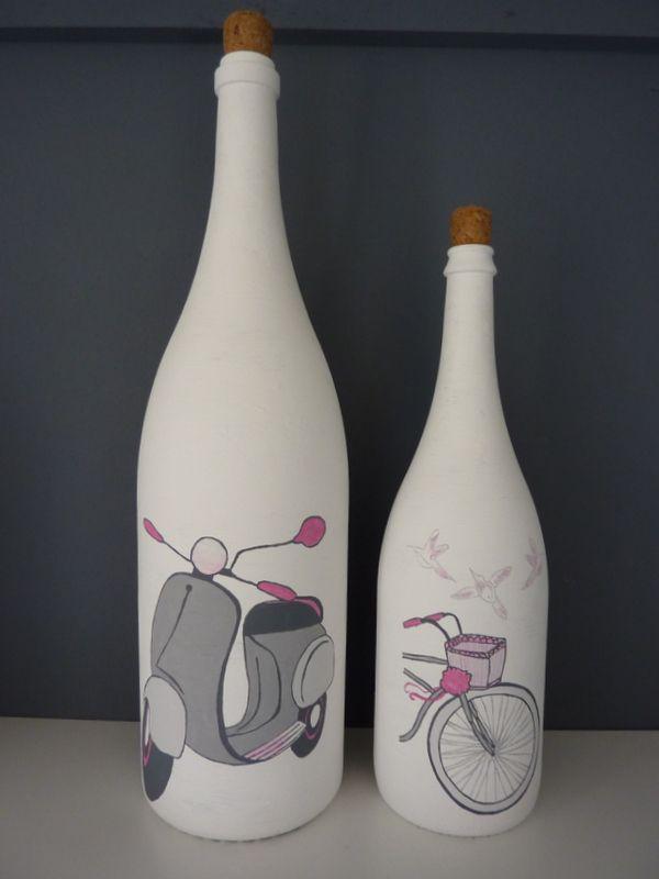 beschilderde flessen