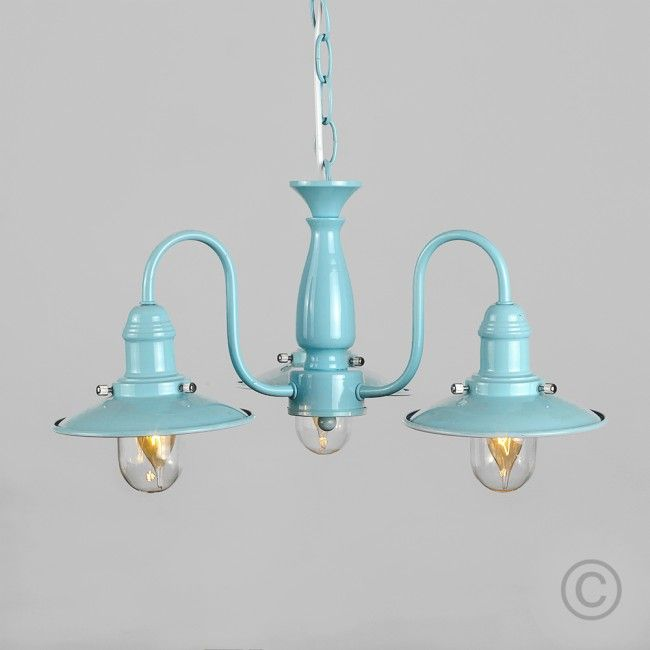 Style Fisherman S 3 Way Pendant Light In Duck Egg Blue
