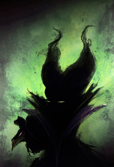 This Maleficent is terrifying enough that I considered pinning this to my horror board. I approve entirely of freaky evil Maleficent, and would love to see other villains done by the same artist. <3