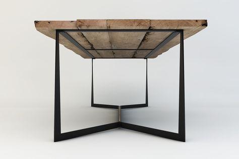 Special Design Skeletal Quadro Table Contemporary