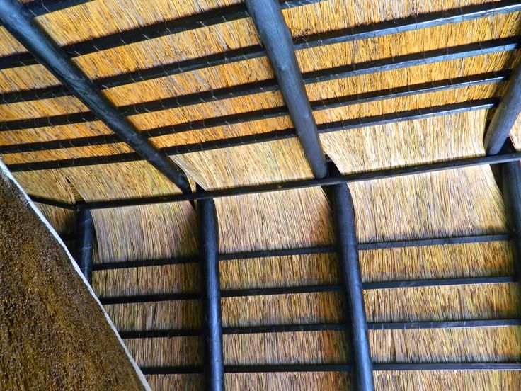 We recommend the installation of a thatch ceiling when we convert from thatch to tiles - this retains the warmth and feeling of thatch on the inside of the house