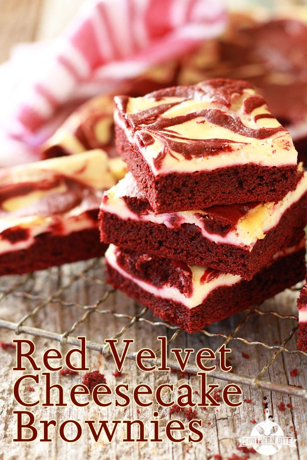 Southern Bite • Red Velvet Cheesecake Brownies - Perfect for your Valentine - and in typical Southern Bite fashion, they are easy!
