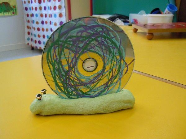 Brooddeeg met geverfd karton als vervanging voor de cd