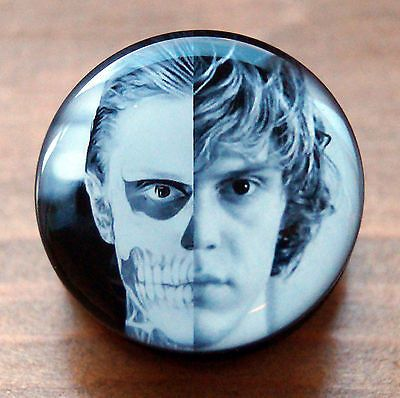 AHS FLESH PLUG AMERICAN HORROR STORY ACRYLIC SCREW FIT TATE LOGO EAR TUNNEL